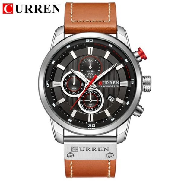 CURREN Sports Watches Luxury Brand Men Analog Digital Leather Men's Military Watch Man Quartz Clock Relogio Masculino Relogio