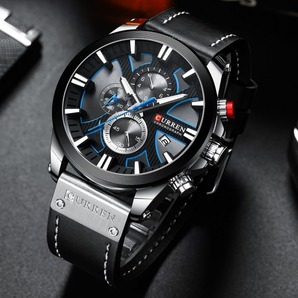 2020 New CURREN Watch Chronograph Sport Mens Watches Quartz Clock Leather Male Wristwatch Relogio Masculino Fashion Gift for Men