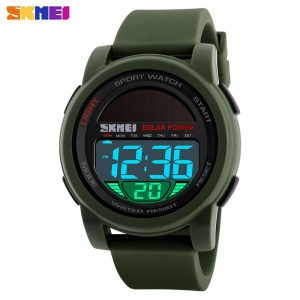 SKMEI Military Solar Power Back Light Men Digital Sports Watches Male Electronic Clock Chrono 5Bar Waterproof reloj hombre 1549