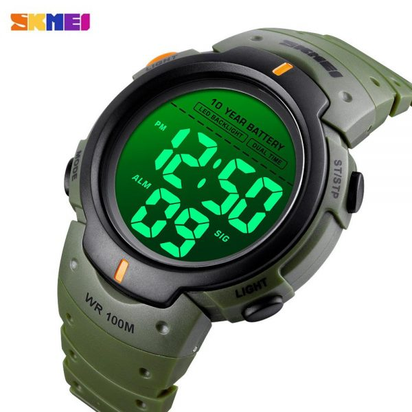 SKMEI 1560 Military Swimming Sports Watches 10 Years life Battery Men Watch 100m Waterproof Male Digital Clock reloj hombre