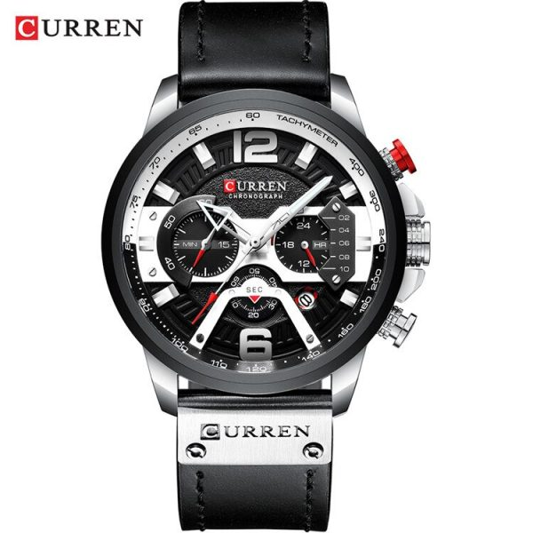 CURREN Luxury Brand Mens Watch Military Leather Wristwatch Man Sports Clock Casual Fashion Chronograph Waterproof Relojes Hombre