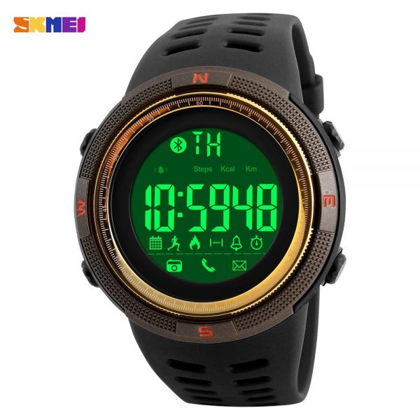 SKMEI LED Display Male Electronic Clock Pedometer Distance Calendar 5Bar Waterproof Sport Men's watches Relogio Masculino 1250