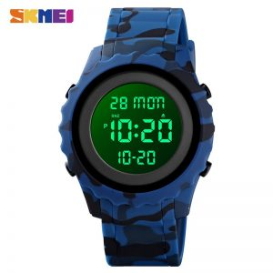 SKMEI Waterproof LED light Electronic Male Wristwatch Military Cowboy Stopwatch Men Sports Watches Relogio Masculino 1631 Clock