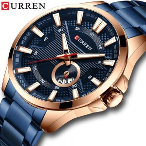 CURREN New Business Quartz Watch for Men Luxury Watch Men's Brand Stainless Steel Wristwatch Relogio Masculino Waterproof Clock