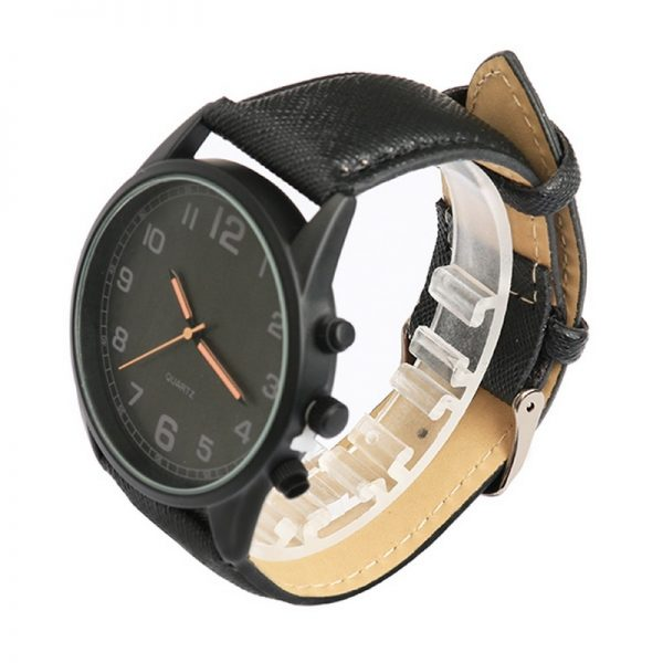 Mens Fashion Watches Luxury Sport Leather Strap Quartz Luminous Hands