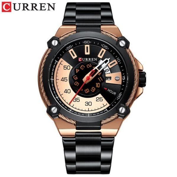 CURREN Top Brand Men Stainless Steel Sports Watches Quartz Military Watch Fashion Causal Male Clock Auto Date Relogio Homem