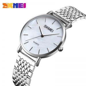 2020 Simple SKMEI Women Quartz Watches Luxury Stainless Steel Strap Female Wristwatches Ladies Girl Clock Montre Femme 1567