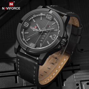 NAVIFORCE Original Mens watches Casual Leather Strap Military Quartz Wrist watch Date Waterproof Clock Male Relogio Masculino