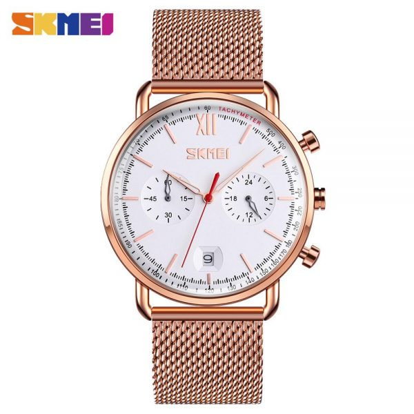 SKMEI Simple Quartz Male Wrist Watch military Stopwatch Calendar Waterproof mens watches top brand luxury relojes hombre 9206