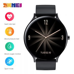 SKMEI Bluetooth Time LED Display Digital Men Watches Heart Rate Monitor Stopwatch Male Wristwatch Clock Relogio Masculino QW13