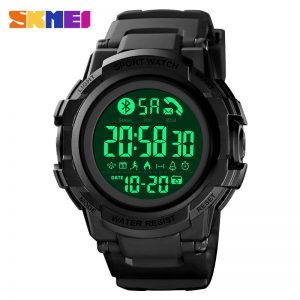SKMEI LED Display Men Electronic Wristwatches Calendar Pedometer Chrono Stopwatch Call Reminder Sport Watches Reloj hombre 1501