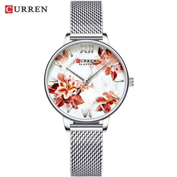 CURREN Women Watches Top 9060 Luxury Brand Lady Fashion Casual Simple Steel Mesh Strap Wristwatch Gift for Girl Relogio Feminino