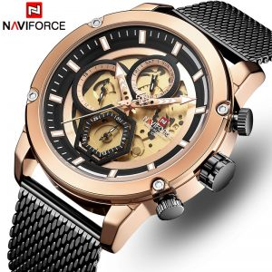 NAVIFORCE Men Watch Top Luxury Brand Casual Quartz Watches Men's Stainless Steel Military Wristwatch Analog Relogio Masculino