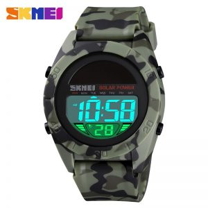 SKMEI Military 5Bar Waterproof Male Wristwatches Solar Power Men Digital Watch Stopwatch Sport Watches Relogio Masculino 1592