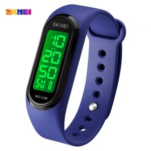 SKMEI 1666 LED Display 5Bar Waterproof Male Wristwatches Creative rectangle Men Sport Watches Relogio Masculino 12 kinds Colors