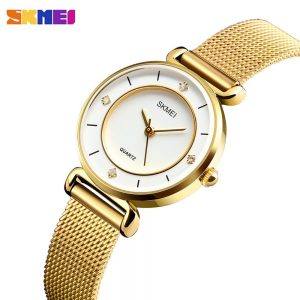 2020 SKMEI New Fashion Women Quartz Clock Waterproof Ladies Wristwatch Female Business Watches Relogio Feminino reloj mujer 1330