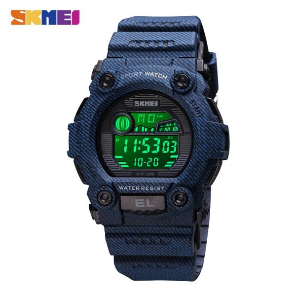 SKMEI Military Sport Watches Male LED Digital Wristwatch Stopwatch Alarm Dive Electronic Men's Clock Relogio Masculino 1633 1635