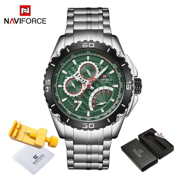 2020 NAVIFORCE Men Watches Top Luxury Brand Sport Quartz Watch Male Military Waterproof Businees Date Clock Relogio Masculino