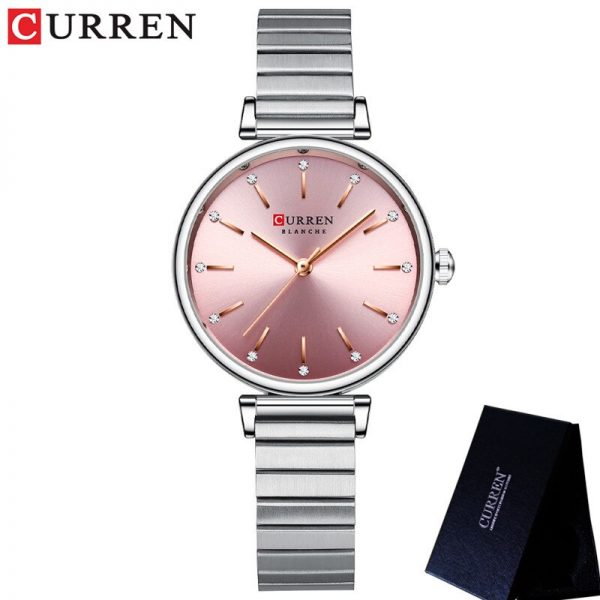 CURREN 9081 Women Watch Top Brand Luxury Female Waterproof Clock Genuine Leather Bracelet Fashion Simple Ladies Wristwatch Gift