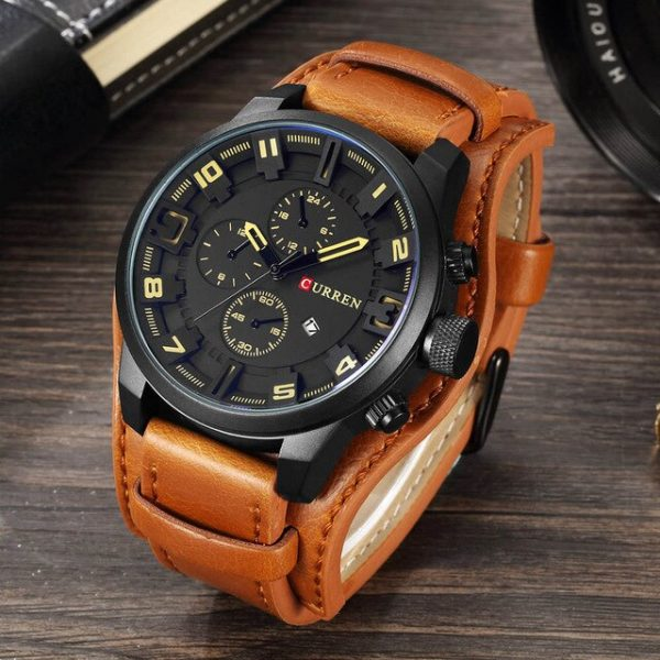 CURREN Dropship 8225 Fashion Mens Watch Waterproof Top Brand Luxury Calendar Male Clock Leather Sport Military Gift Wristwatch