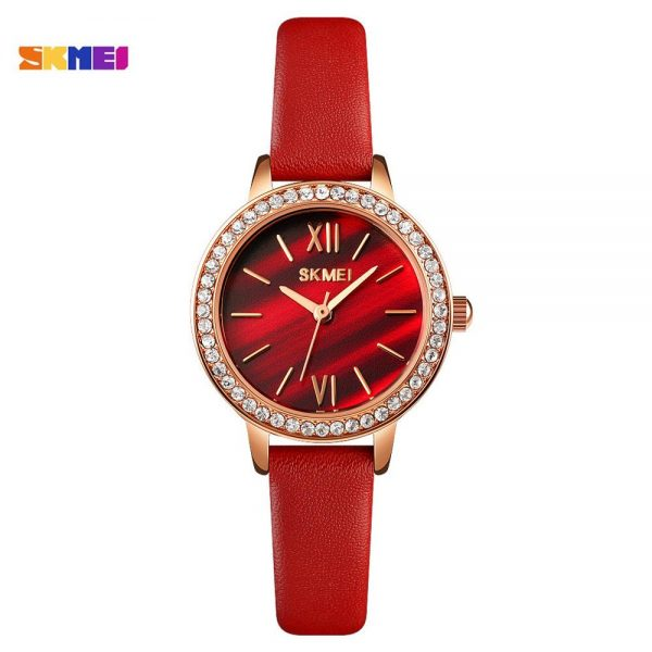 SKMEI Brand Top Luxury Dress Rhinestone Ladies Quart Watch Waterproof Female Women Clock Wristwatches Gift Relogio Feminino 1711
