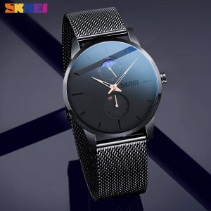 SKMEI Japan movement Quartz Casual Men Watches Simple Moon Phase Date Male Waterproof Wristwatch Clock Relogio Masculino 9208