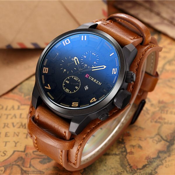 Curren Men Watches Top Brand Fashion Casual Business Army Military Steampunk Luxury Quartz Watch Men Hodinky Relojes Hombre