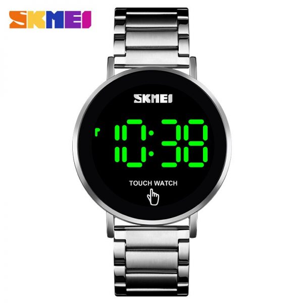 SKMEI Men Digital Wristwatches LED Touch Screen Waterproof Men's Electronic Watch Clock Sports Watches relojes hombre 1550