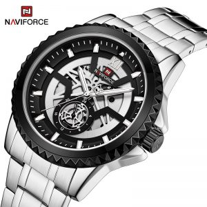 NAVIFORCE Luxury Brand Watches for Men Fashion Military Stainless Steel Quartz WristWatch Male Waterproof Analog Creative Clock