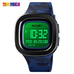SKMEI Personality oval Shape LED Light Digital Men Watches Countdown Calendar Chrono 50M Waterproof relogio masculino 1580 Clock