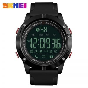 SKMEI 1425 Relogio Masculino Pedometer Countdown 5Bar Waterproof Digital Wristwatches Top Brand Military Men Sports Watches