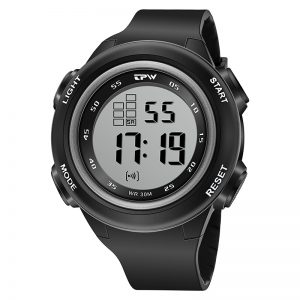 Outdoor Sport Watch Digital Alarm Clock Chronograph Calander 3ATM Waterproof