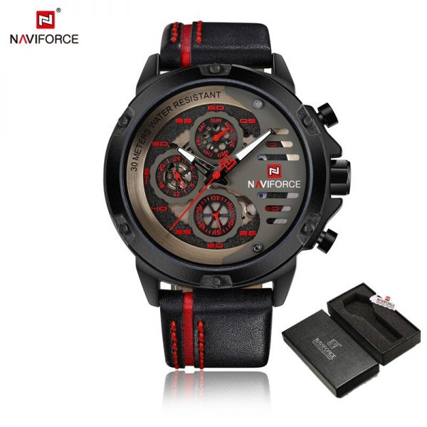Luxury Brand Men NAVIFORCE Army Military Watch Male Sport Quartz Leather Clock Watches 24Hour Date Display Relogio Masculino