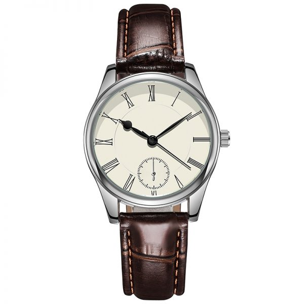 Classic Man Watches Crocodile Leather Strap Light Luxury Casual Ultra Thin Quartz Women Gift for Couple