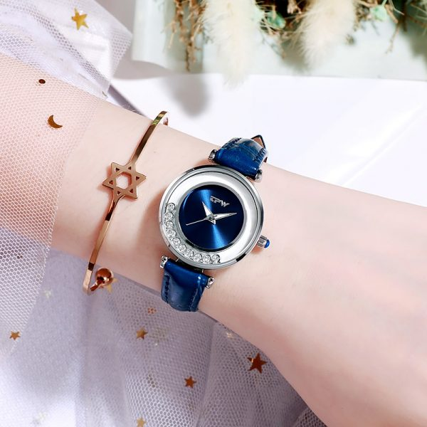 Women Watches Gemstone Light Luxury Fashion Lady Rose Gold Stainless Steel Strap Relogio Feminino Rose Montre Femme