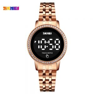 SKMEI Luxury Rhinestone Ladies Digital Wristwatches LED Touch Screen Women Watch Waterproof Female Clock Relogio Feminino 1669