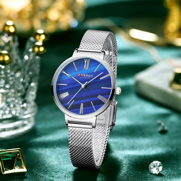 CURREN Top Brand Luxury Wristwatch Woman Watch with Stainless Steel Fashion Casual Simple Quartz Gift Relogio Feminino 9076