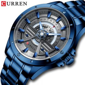 2020 CURREN NEW Sports Watches Mens Fashion Casual Quartz Watch Stainless Steel Watch Date Week Clock Male Creative Wristwatch
