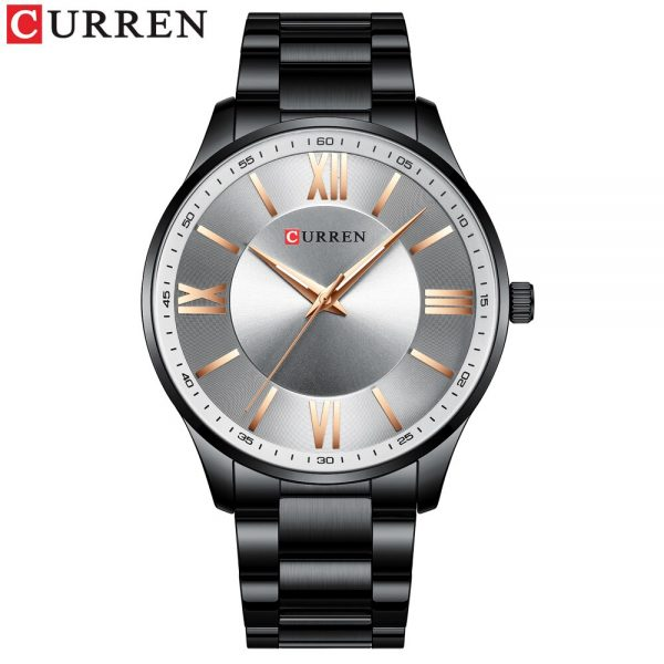 CURREN Stainless Steel Mens Sports Watches New Simple and Classic Quartz Business Watch Thin Clock for Men Stainless Steel Clock