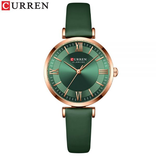 CURREN 2021 New Watches For Women Luxury Brand Fashion Quartz Leather Clock Elegant Dress Bracelet Wristwatch With Leather Strap