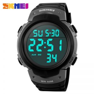 SKMEI Men Watch Chrono Countdown Alarm Military Sports Watches 5Bar Waterproof LED Digital Male Clock Relojes Para hombre 1068