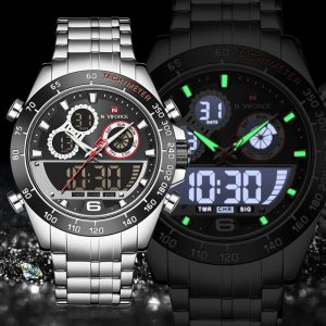 NAVIFORCE New Watches Men Luxury Brand Chronograph Men Sports Watches Waterproof Full Steel Quartz Men's Watch Relogio Masculino