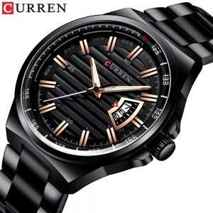 New Curren 8375 Luxury Brand Quartz Watch Stainless Steel Band Wristwatch Fashion Style Watch Man Auto Date Relogio Masculino