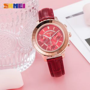 SKMEI New Elegant Female Girl Clock Top Japan Quartz movement Women Watches Waterproof Ladies Wrist watch Relogio Feminino 1704