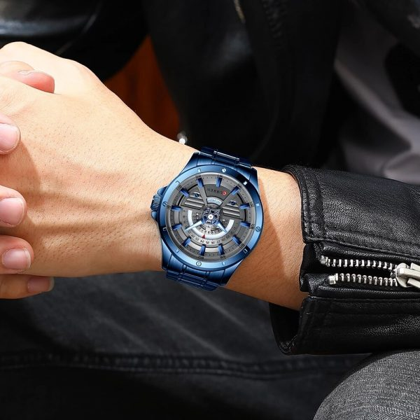 Watches Mens 2020 CURREN NEW Fashion Quartz Stainless Steel Watch Date And Week Clock Male Creative Wristwatch Business Style