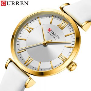 CURREN New Fashion Luxury Watches for Women Quartz Elegant Dress Bracelet Wristwatch with Leather Female Clock Ladies Gifts