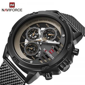 NAVIFORCE Watches Mens Top Luxury Brand Calendar Waterproof Steel strap Clock Male Casual Quartz Wristwatch Relogios Masculino
