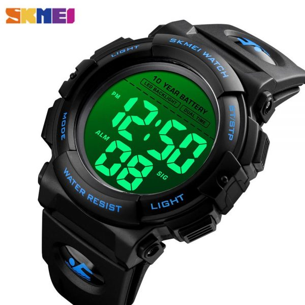 2020 SKMEI Japanese Movement Digital Wrist Watches Male Electronic Sport Clock 50M Waterproof 10 year Battery Men's Watches 1562