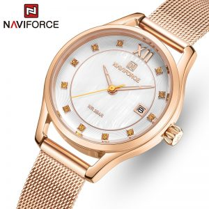 NAVIFORCE Luxury Ladies Watch Women Waterproof Rose Gold Steel Strap Women Wrist Watches Top Brand Bracelet Clocks Relogio Femin