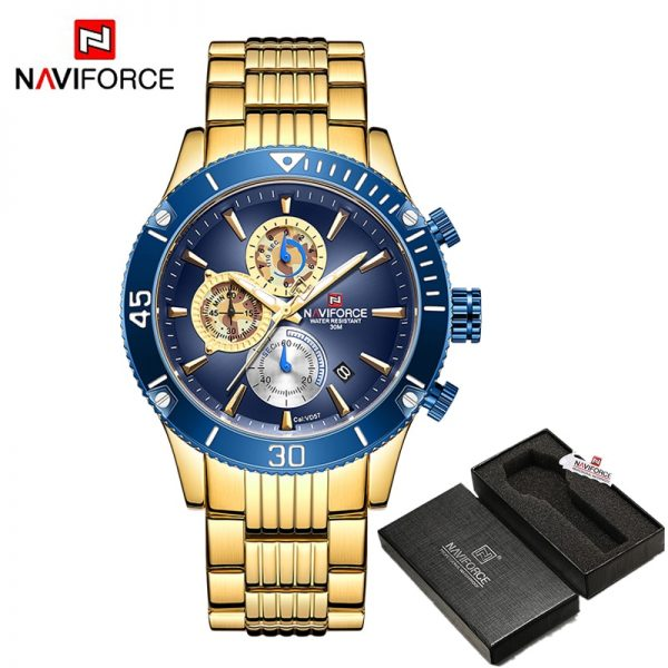 Mens Watches Top Brand Luxury NAVIFORCE Army Military Sports Wrist Watch for men Multi-function Waterproof Clock Reloj Hombre
